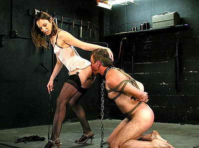 Forced ass licking humiliation