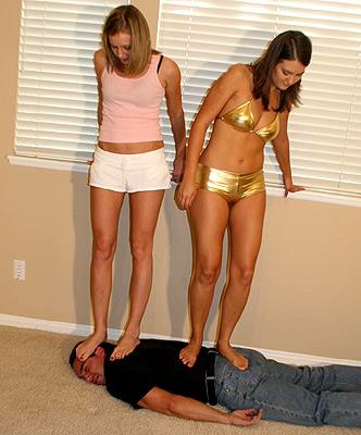 Trampling femdom humiliation