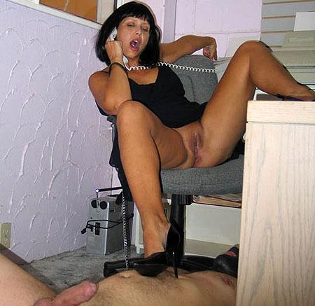 Office femdom humiliation